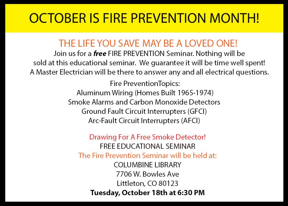 Columbine Library Fire Prevention