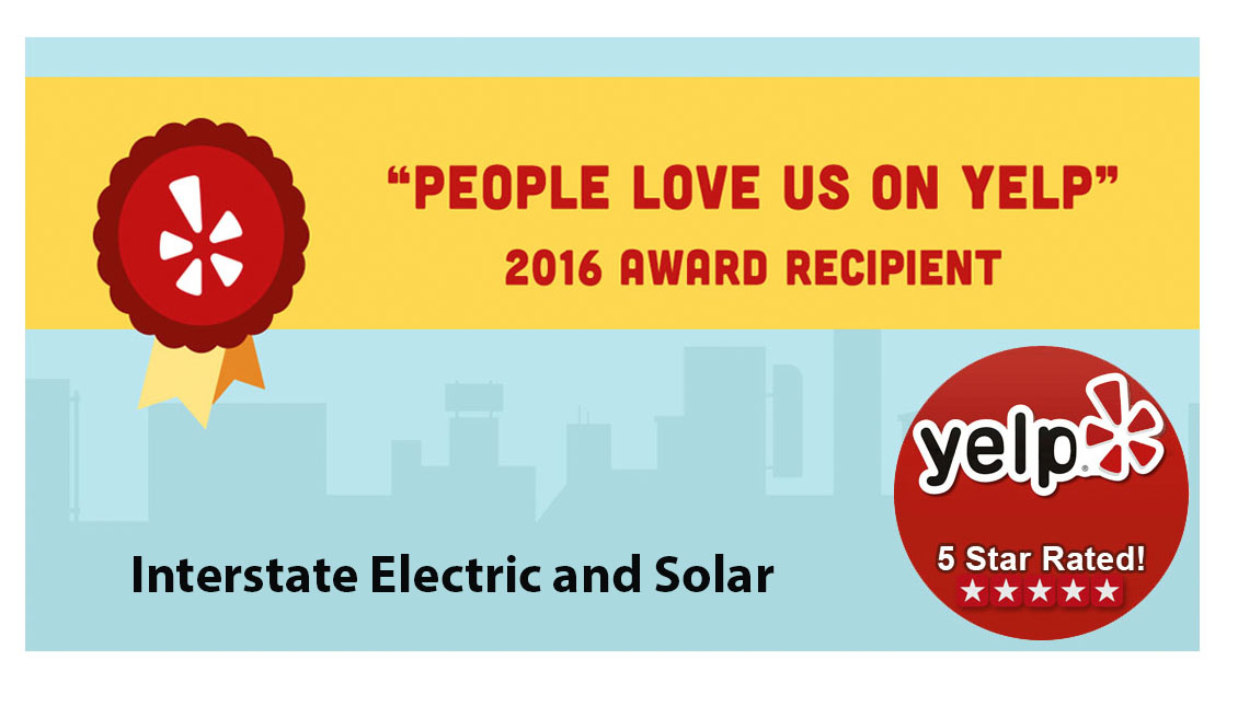 Interstate Electric and Solar Yelp Award